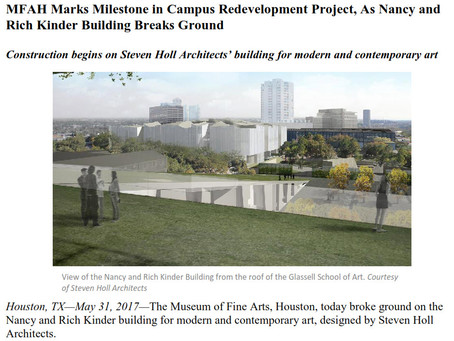 New MFAH Building Ground-Breaking