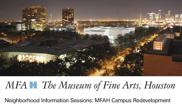 MFAH Neighborhood Information Sessions