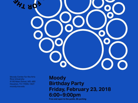 Moody Birthday Party - Friday, February 23, 6 to 9 pm