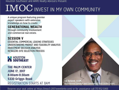 IMOC:  Invest in My Own Community, June 17, 2017