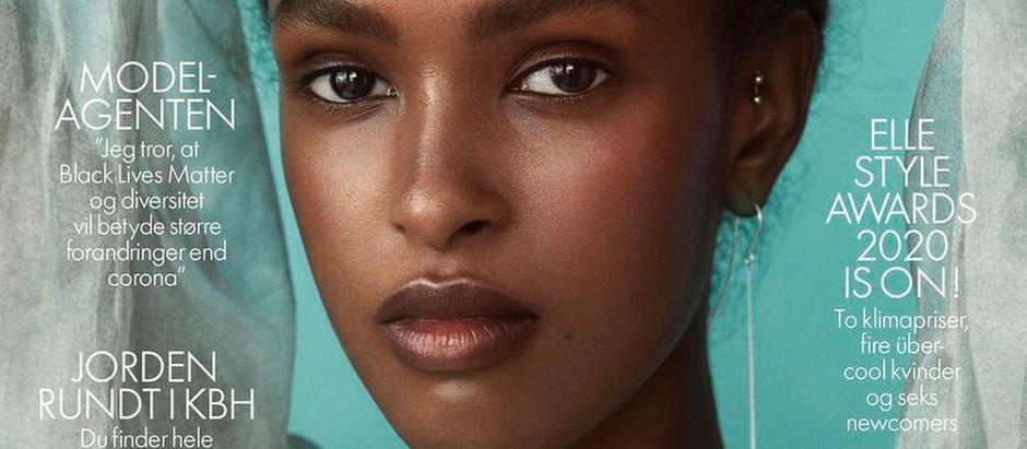 MODEL PERSPECTIVE Warsan First Black Model On The Cover Of Elle Denmark August 2020