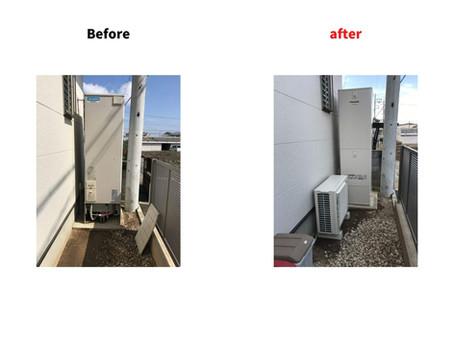 三菱電気温水器からPanasonicエコキュートへ交換