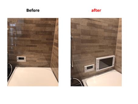 浴室テレビ新設工事