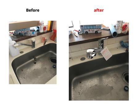 キッチン水栓の施工例