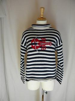 Navy Striped