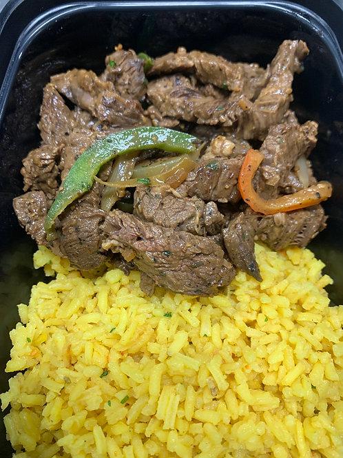 Fajita Steak & Peppers with Saffron Rice