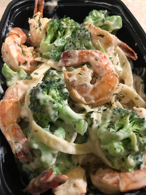 Shrimp and Broccoli Alfredo Pasta