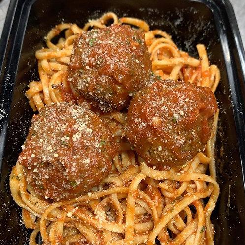 Spaghetti and Beef Meatballs