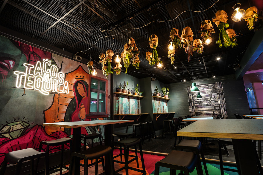 Ravintolan sisustussuunnittelu - T'N'T Tacos & Tequila, Tampere