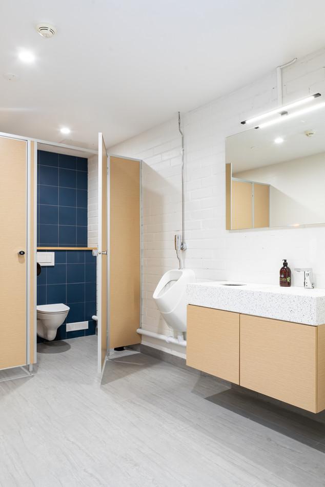 Toimiston sisustussuunnittelu - wc