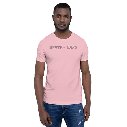 Beats & Bars Soft Pink Short-Sleeve Unisex T-Shirt