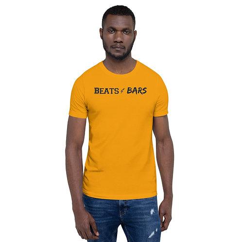 Beats & Bars Navy Short-Sleeve Unisex T-Shirt