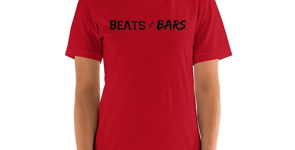 Beats and Bars Black Center Unisex T-Shirt