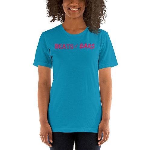 Beats & Bars Hot Pink Short-Sleeve Unisex T-Shirt