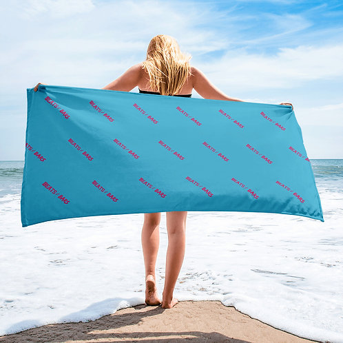 Blue and Hot Pink Beach Towel