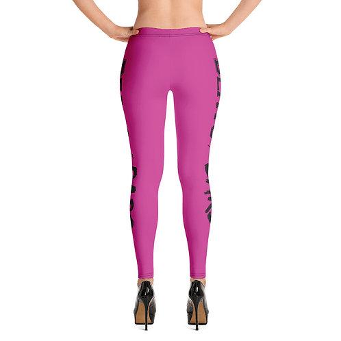 Pink and Black Leggings