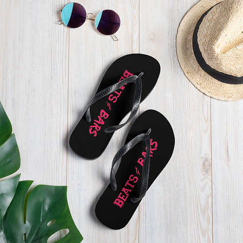 Black n Hot Pink Flip-Flops