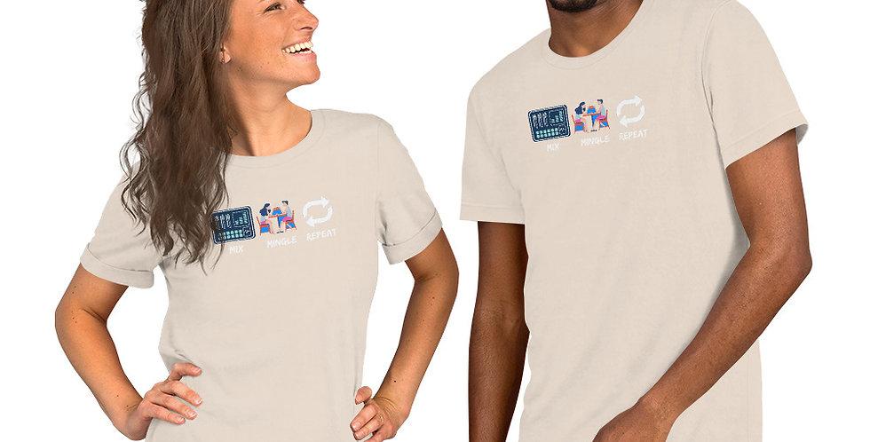"""Mix, Mingle, Repeat"" Short-Sleeve Unisex T-Shirt copy"