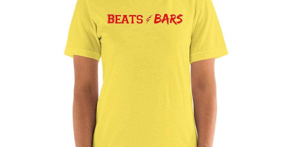 Beats & Bars Red Short-Sleeve Unisex T-Shirt