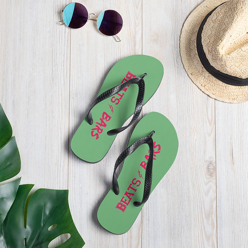 Green n Hot Pink Flip-Flops