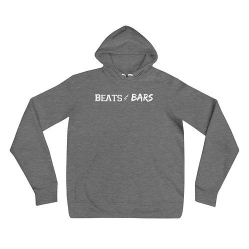Heather Gray n White Unisex hoodie