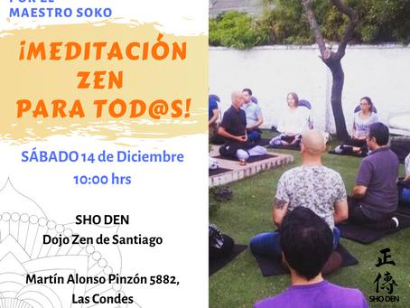 ¡Meditación zen para tod@s! (14 dic)