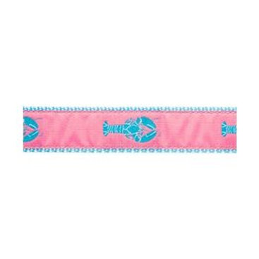 Pink Lobster Martingale Collar