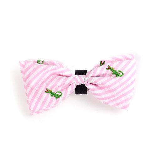 Pink Alligator Bow Tie