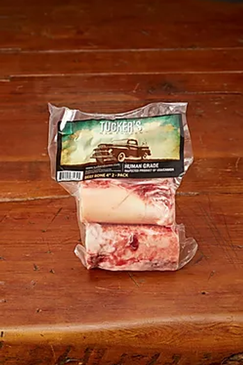 "Raw Beef Bones- 4"" 2 Pack"