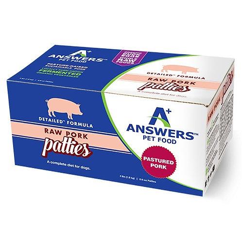 Detailed Raw Pork Patties