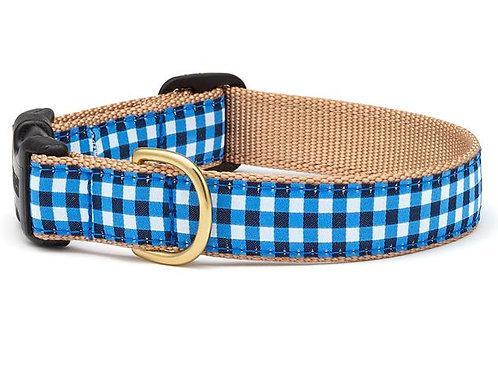 Navy Gingham Collar