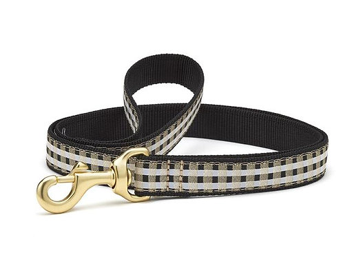 Black Gilt Check Lead