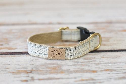 Cream/Navy Seed Sack Collar