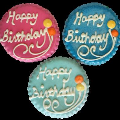 Birthday Round Cookie