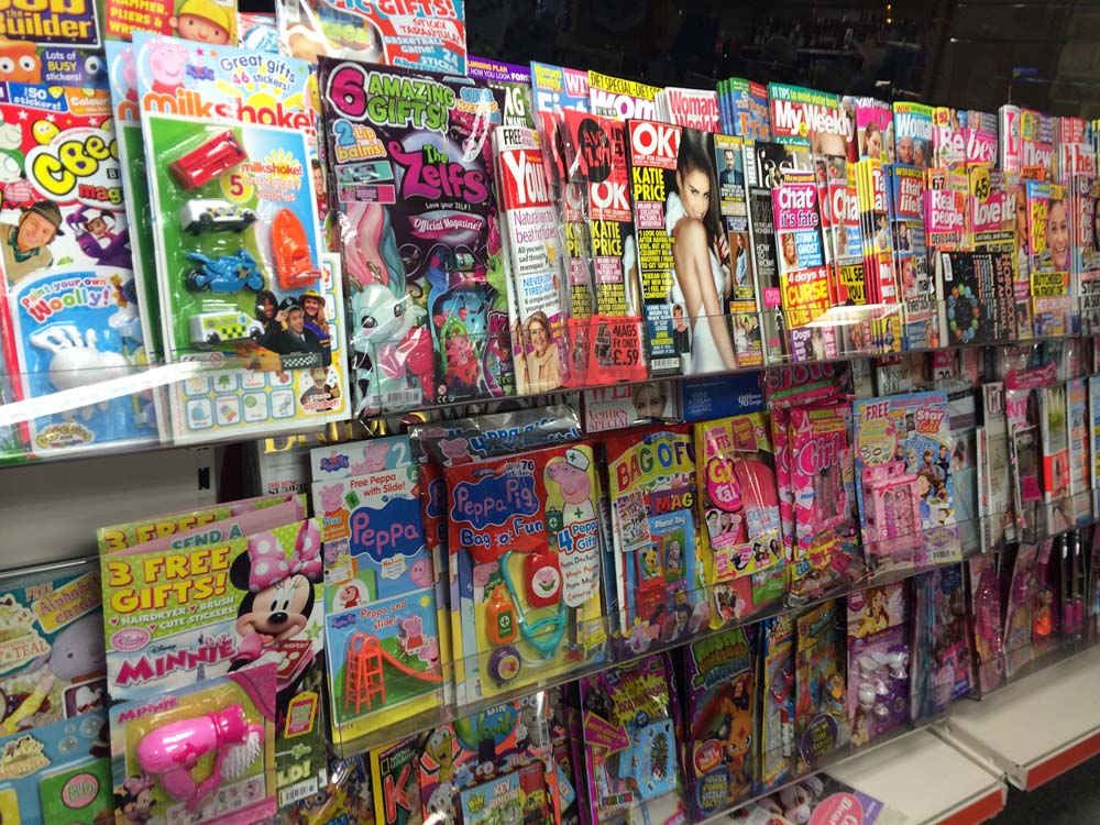 Kids & Adult Magazines section