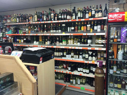 Large selection of alcohol