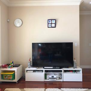 Doraemons at the owner's living room
