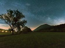 Milky Way above Boč mountain, Poljčane, Slovenia