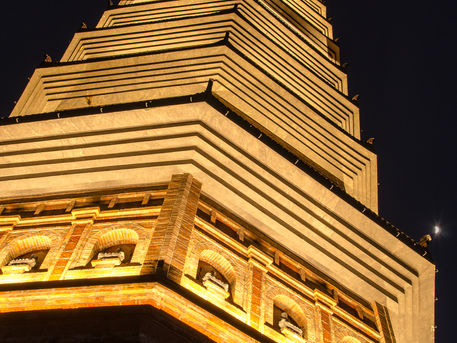 Bai Dinh tower from Bottom