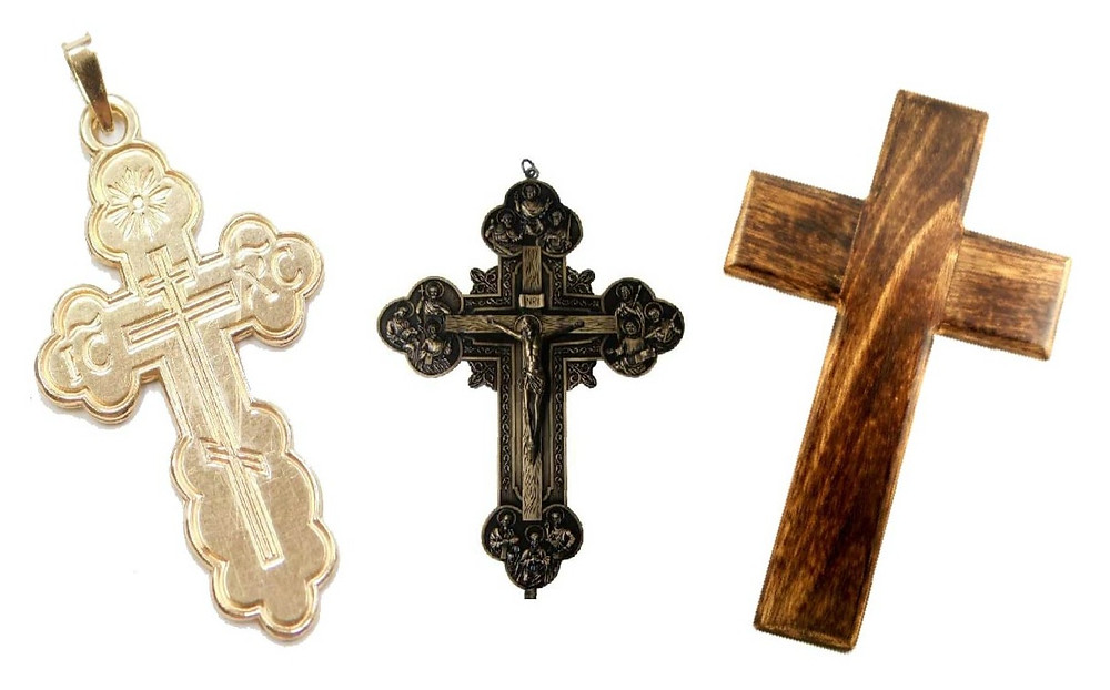 Orthodox Cross, Catholic Cross, Evangelical Cross