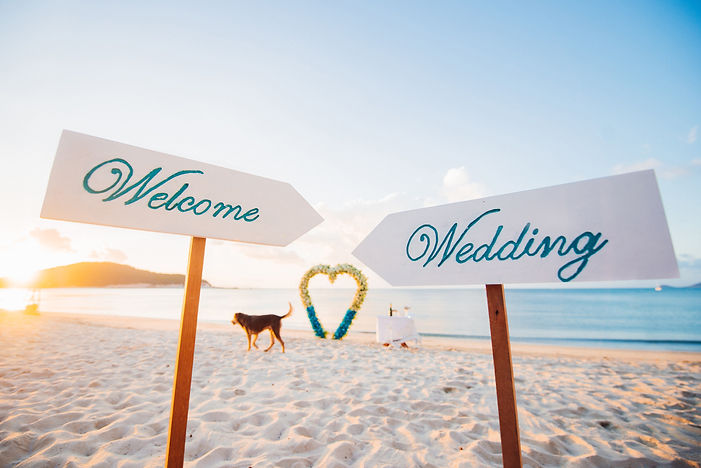 """Wooden sign that read, """"welcome wedding"""""""