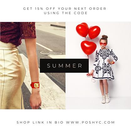 poshyc summer 15% coupon code Coupon Cod