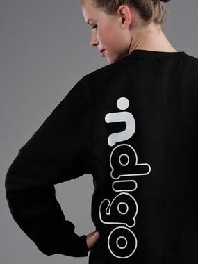 ∙ndigo sweater Black
