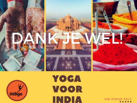 UPDATE – YOGA VOOR INDIA | DANSSTUDIO INDIGO