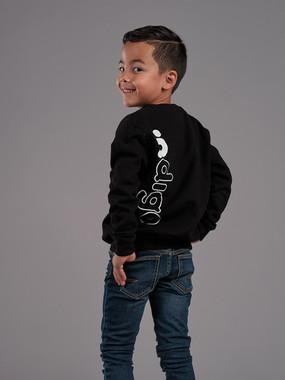 ∙ndigo Black sweater Boys