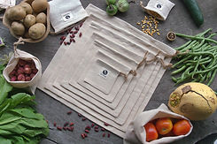 Vegetable & Produce Set of Canvas Bags