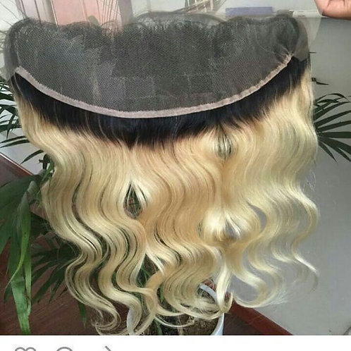 Russian Blonde Lace Frontal w/dark roots