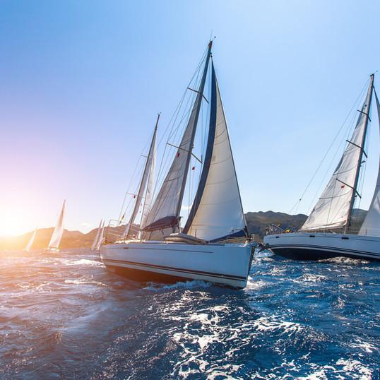 Sunset Sailboats