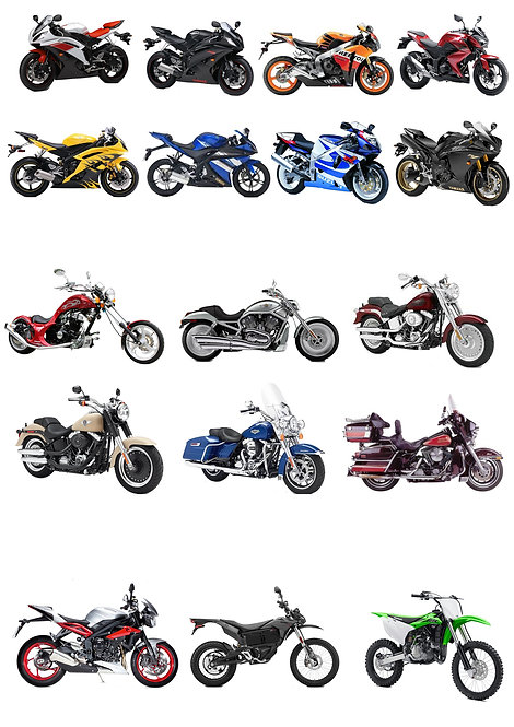 17 Stand Up Edible Wafer Paper Motorbike Toppers