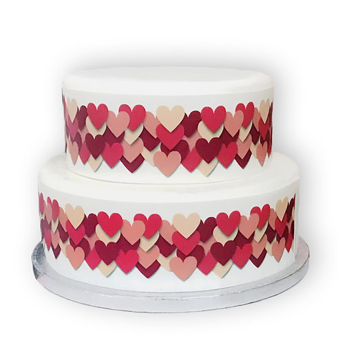 Love Heart Border Decor Icing Sheet Cake Decoration Perfect for Valentine's Day